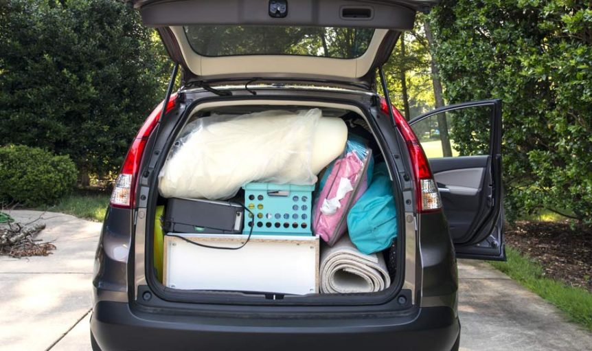 Car filled for College